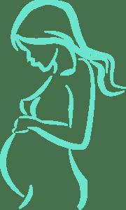 imagen artistica de mujer embarazada